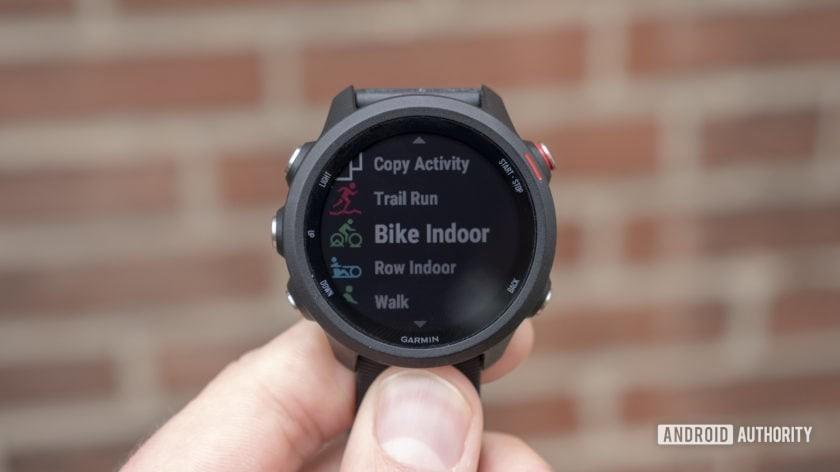 garmin forerunner 245 music running watch running biking activities screen