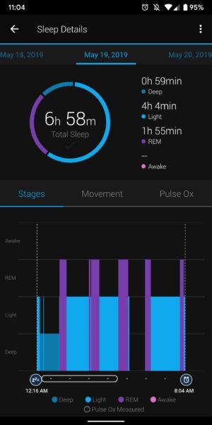 garmin connect sleep tracking sleep stages