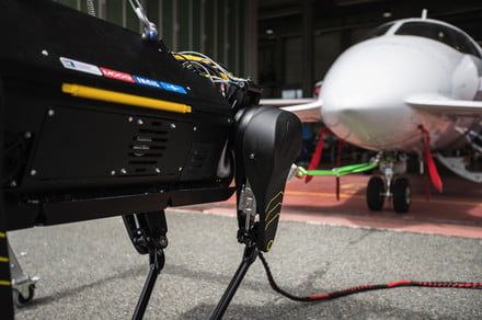 This plane-pulling robo-dog makes Boston Dynamics' Spot look scrawny