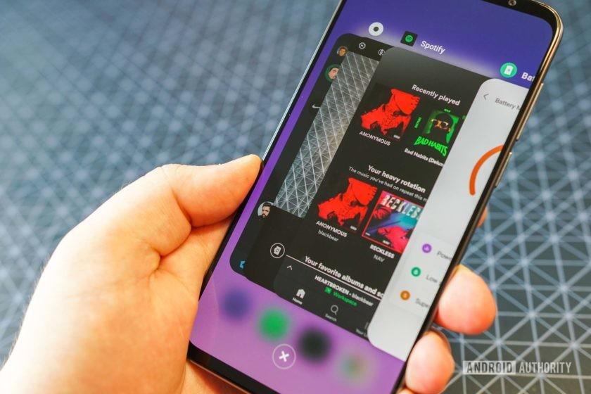 Meizu 16s full-screen gesture based multi-tasking view