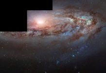 This galaxy, Messier 90, appears blue because it's traveling toward us