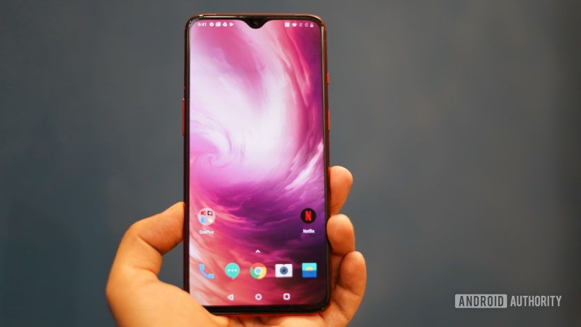 OnePlus 7 showing display