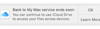Apple Eliminating Back to My Mac Service in All Versions of macOS in July
