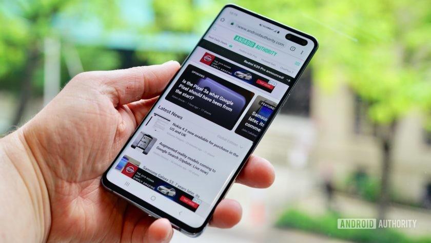 Samsung Galaxy S10 5G Verizon Wireless right profile
