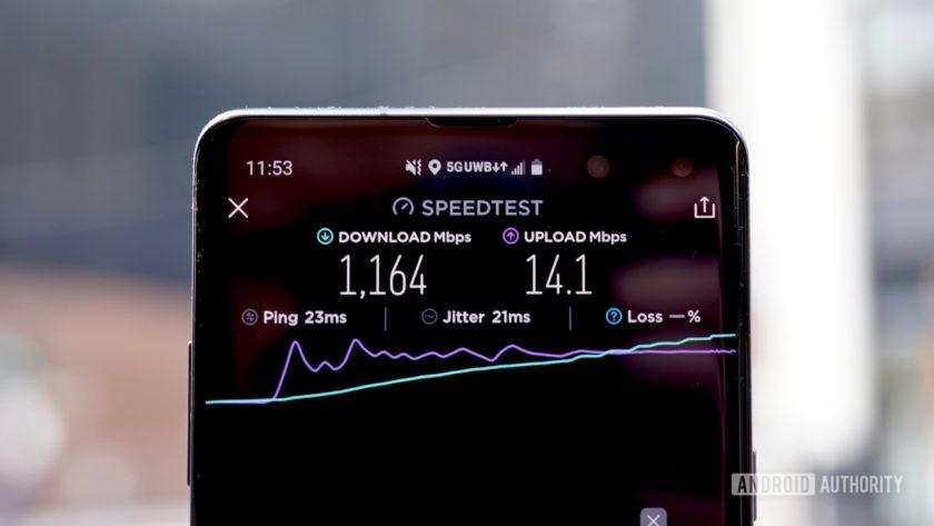 Samsung Galaxy S10 5G Verizon Wireless 1164Gbps