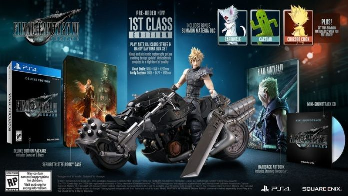 Final Fantasy 7 Remake deluxe and collector's editions go up for pre-order