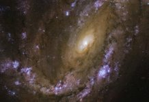 Hubble captures explosive galaxy, the site of three recent supernovae