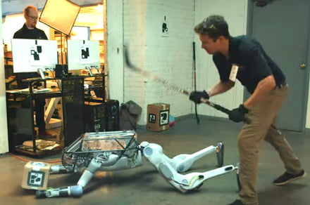 Tormented robot pulls a gun on its creators in latest Boston Dynamics spoof