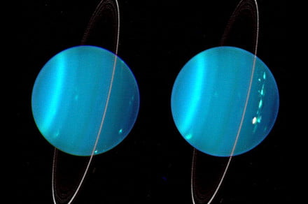 Uranus' rings shine brightly but hold a puzzle for astronomers
