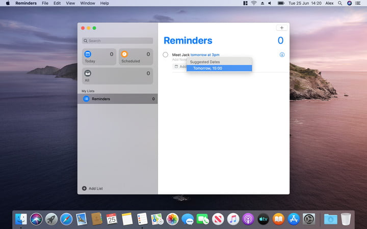 Reminders | MacOS Catalina Hands-on