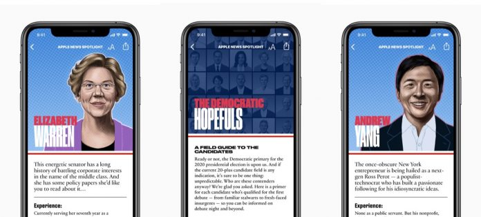 Apple News Launches Candidate Guide to the 2020 Democratic Debates