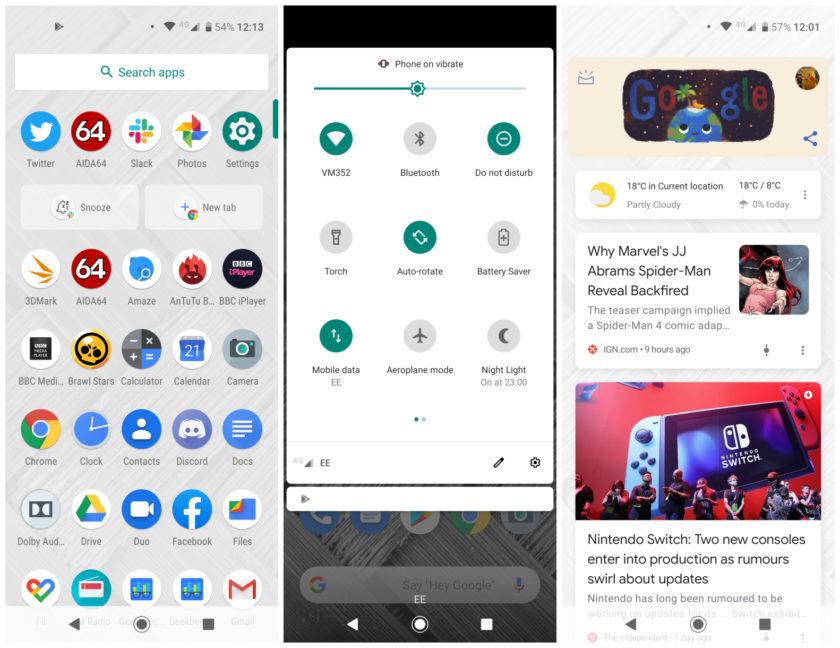 Motorola One Vision software screenshots