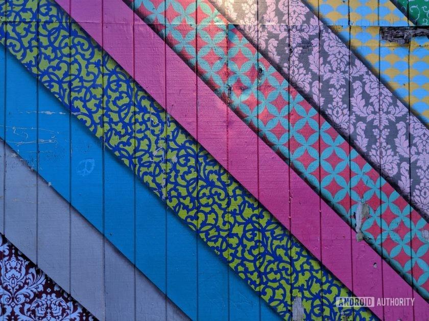 Google Pixel 3a XL Camera Review COlor painted slats