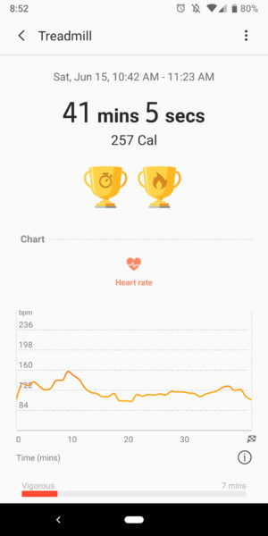 samsung health heart rate stats