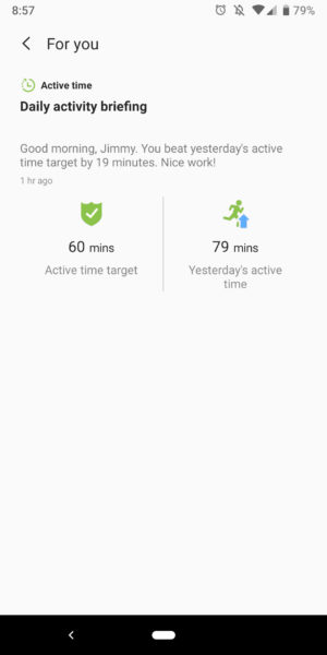 samsung health app insights for you