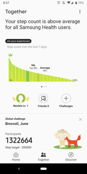 samsung health app together