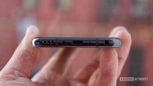 LG V50 ThinQ Review Bottom edge