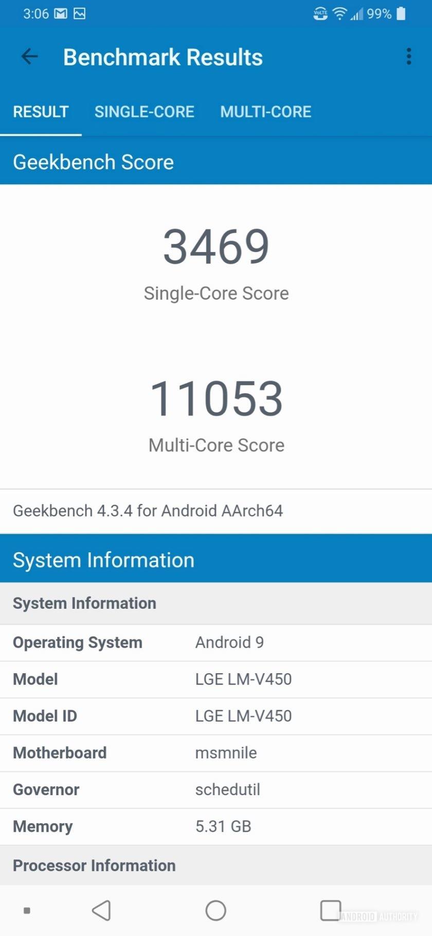 LG V50 ThinQ Review GeekBunch4 Results