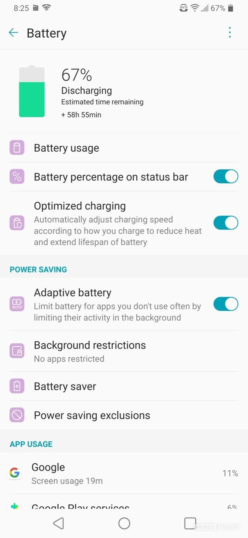 LG V50 ThinQ Review battert dashboard