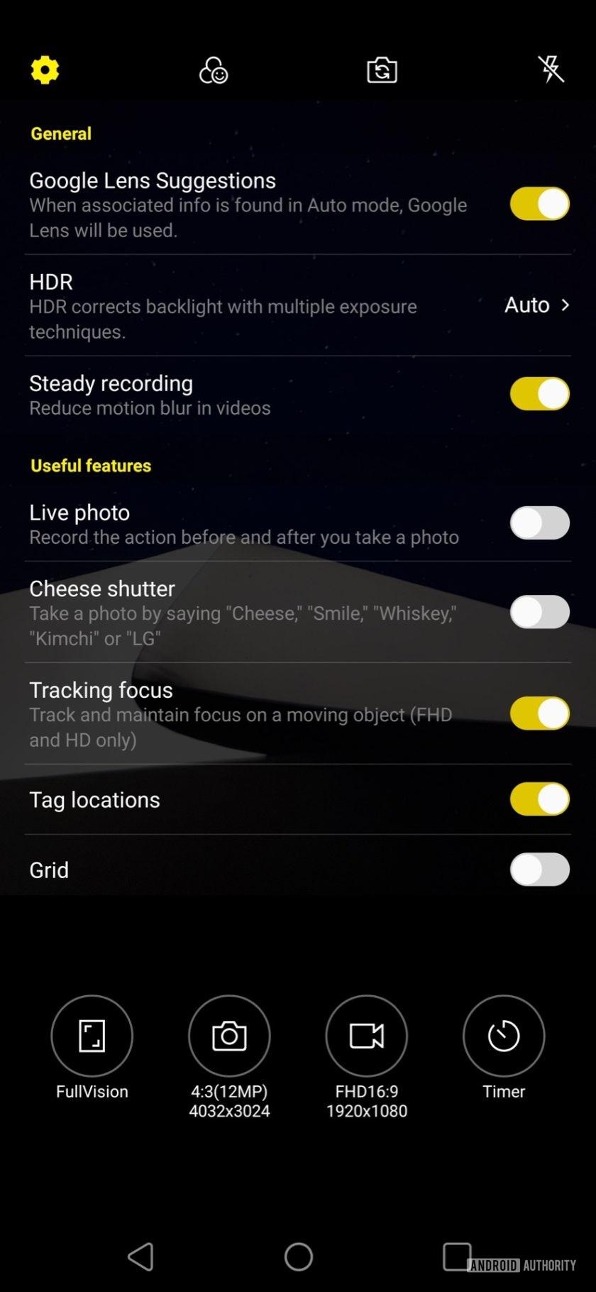 LG V50 ThinQ Review camera settings 2