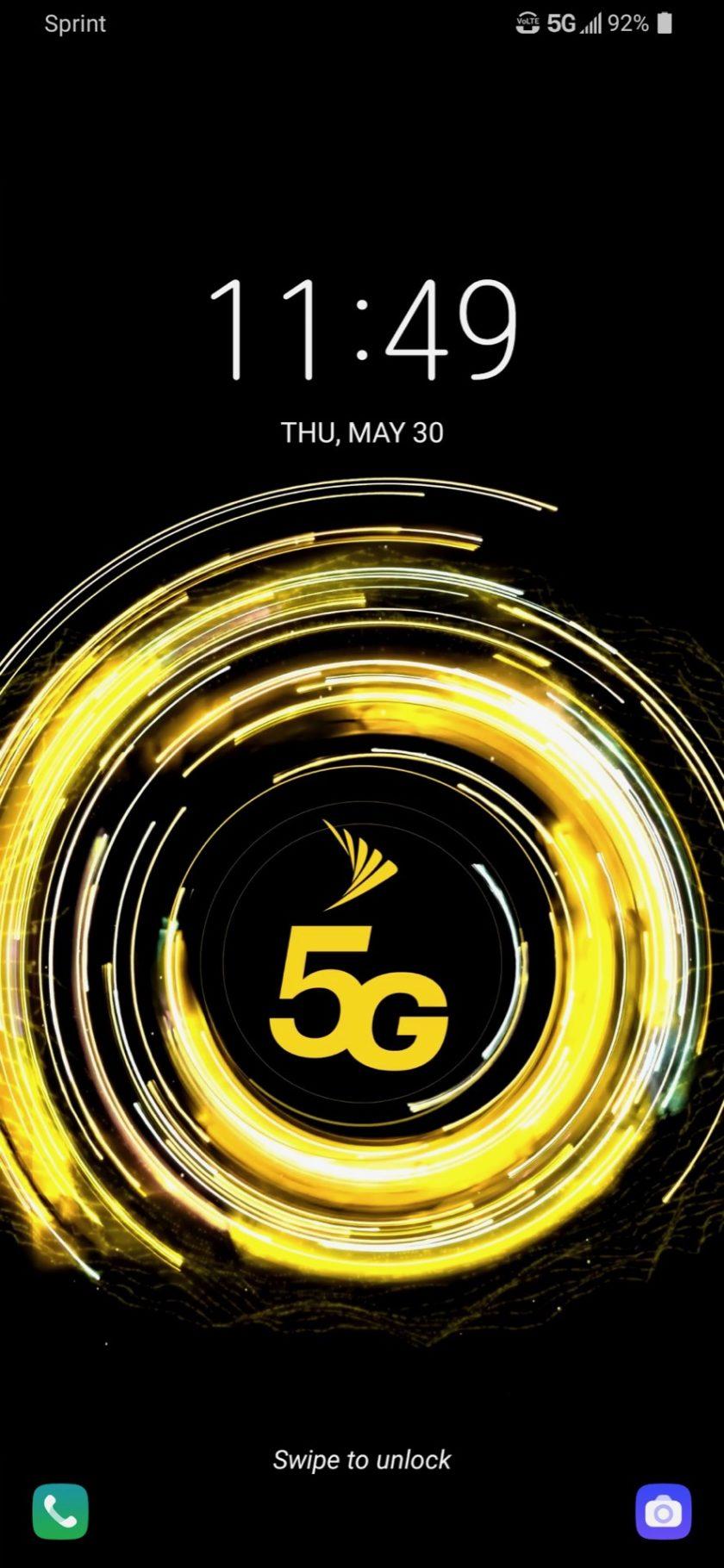 LG V50 ThinQ Review Lock Screen