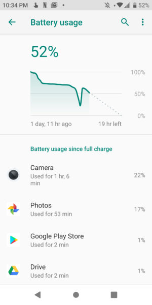Coolpad Legacy Battery Use