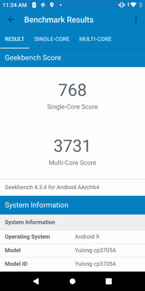 Coolpad Legacy Geekbench scores
