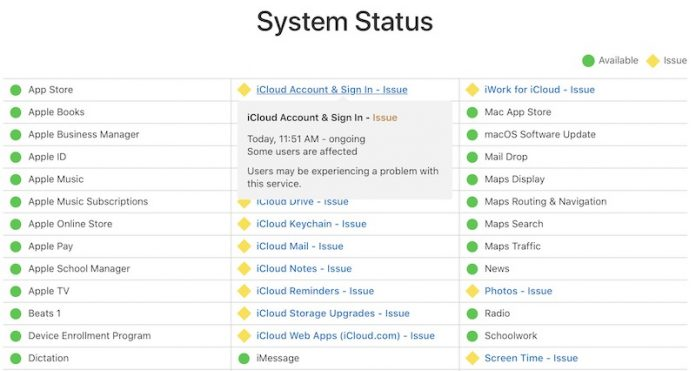 Apple Experiencing Issues With iCloud Services and Retail Store Systems