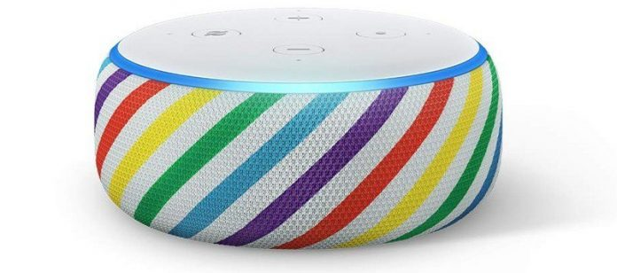 Enter a technicolor world — or don't — with an Amazon Echo Dot Kids Edition