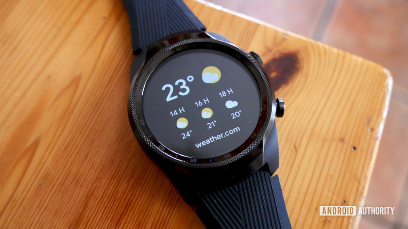TicWatch Pro 4G/LTE Wear OS weather tile