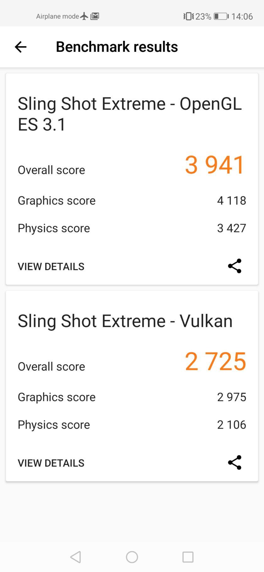Honor 20 3dmark benchmark screenshot