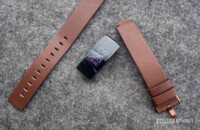 fitbit inspire hr detached brown leather strap
