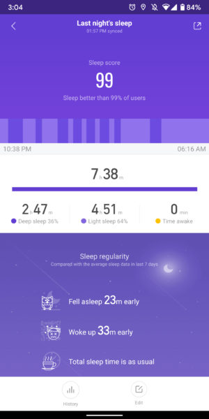 xiaomi mi band 4 review mi fit app sleep screenshots
