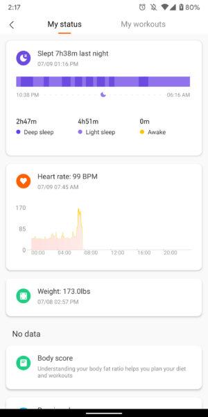 xiaomi mi band 4 review mi fit app screenshots sleep