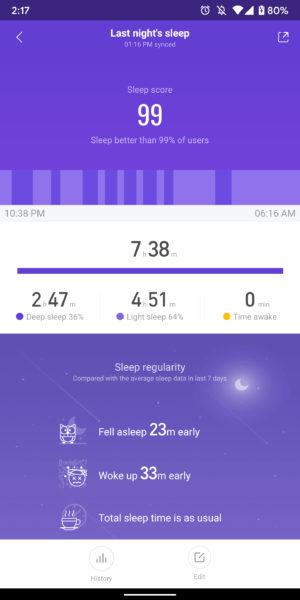 xiaomi mi band 4 review mi fit app screenshots