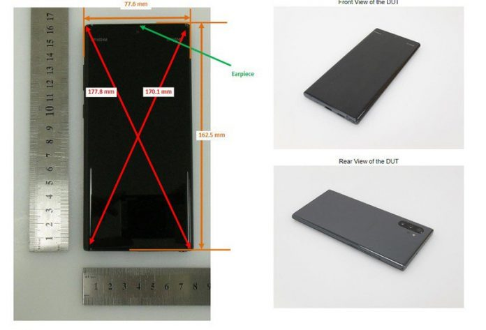 New batch of Galaxy Note 10 photos leak courtesy of the FCC