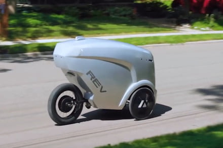 The Rev-1 delivery robot is fast enough to hit the bike lane