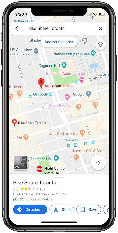 Google Maps Expands Real-Time Bikesharing Info to 23 More Cities