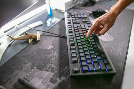The Keystone keyboard powers your typing or gaming with built-in A.I.