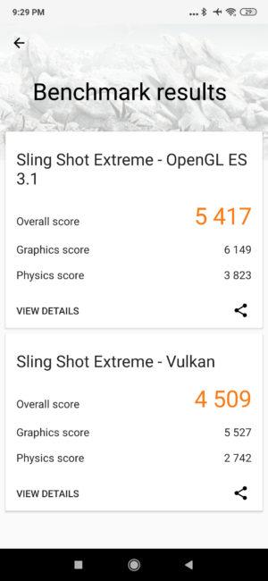 Redmi K20 Pro 3D Mark score