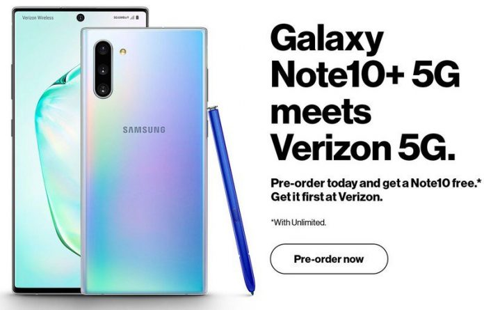 Galaxy Note 10+ 5G heading to Verizon first, pre-orders get a free Note 10