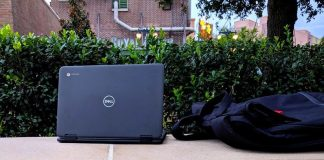 The Dell 3100 2-in-1 is a Chromebook that can go the distance