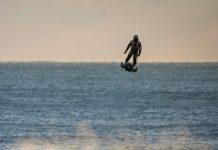 Someone just flew across 21 miles of water on a jet-powered flyboard