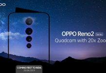 OPPO Reno 2 with quad cameras, 20x zoom will debut on August 28