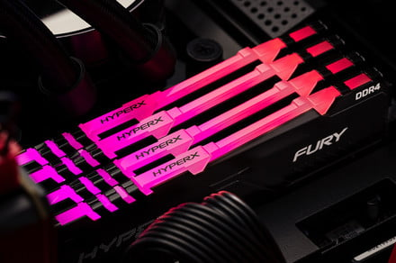 HyperX gives the Fury DDR4 memory line a face-lift and adds RGB lighting