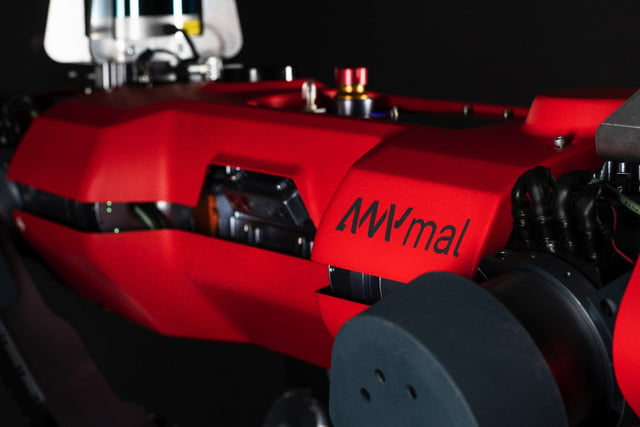 anymal c robot release side close up with logo