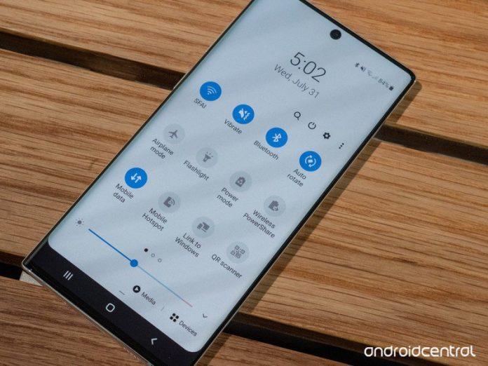 How to turn off and power down the Galaxy Note 10