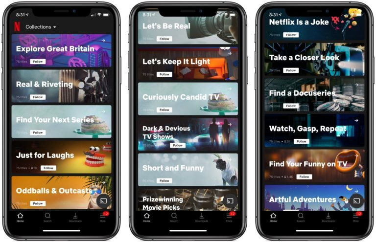 Netflix Tests Human Curated 'Collections' Feature on iOS