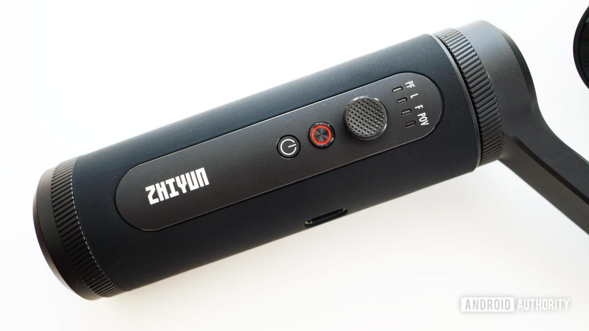 Zhiyun Smooth Q2 controls closeup, Zhiyun Smooth-Q2 review