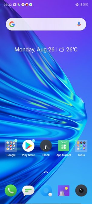 Realme 5 Homescreen